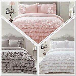 Belle-Amie-Flamenco-Frills-Duvet-Quilt-Cover-Luxury-Ruffles-Bedding-FREE-P-amp-P