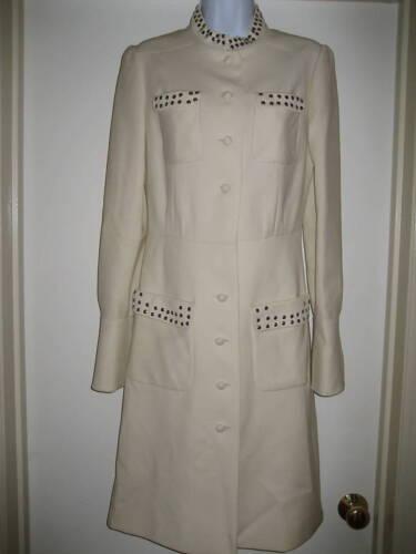 de 6 8 clouté Manteau haute couture de modèle blanc Ford wgP8qY1