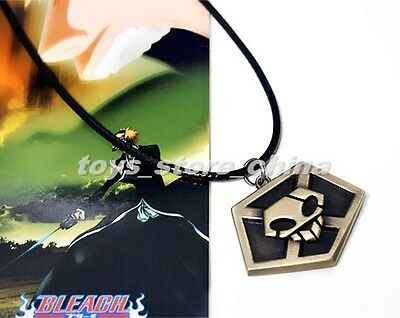 Anime Bleach KUROSAKI IGHIGO Pass Necklace Pendant Black Rope Metal Toy