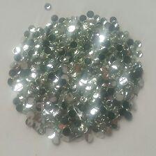 New DIY 500pcs 4mm gray Facets Resin Rhinestone Gems Flat Back Crystal beads 150