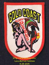LMH PATCH Badge  GOLD COAST Beach Resort SUNNY QUEENSLAND Australia Bird Dolphin