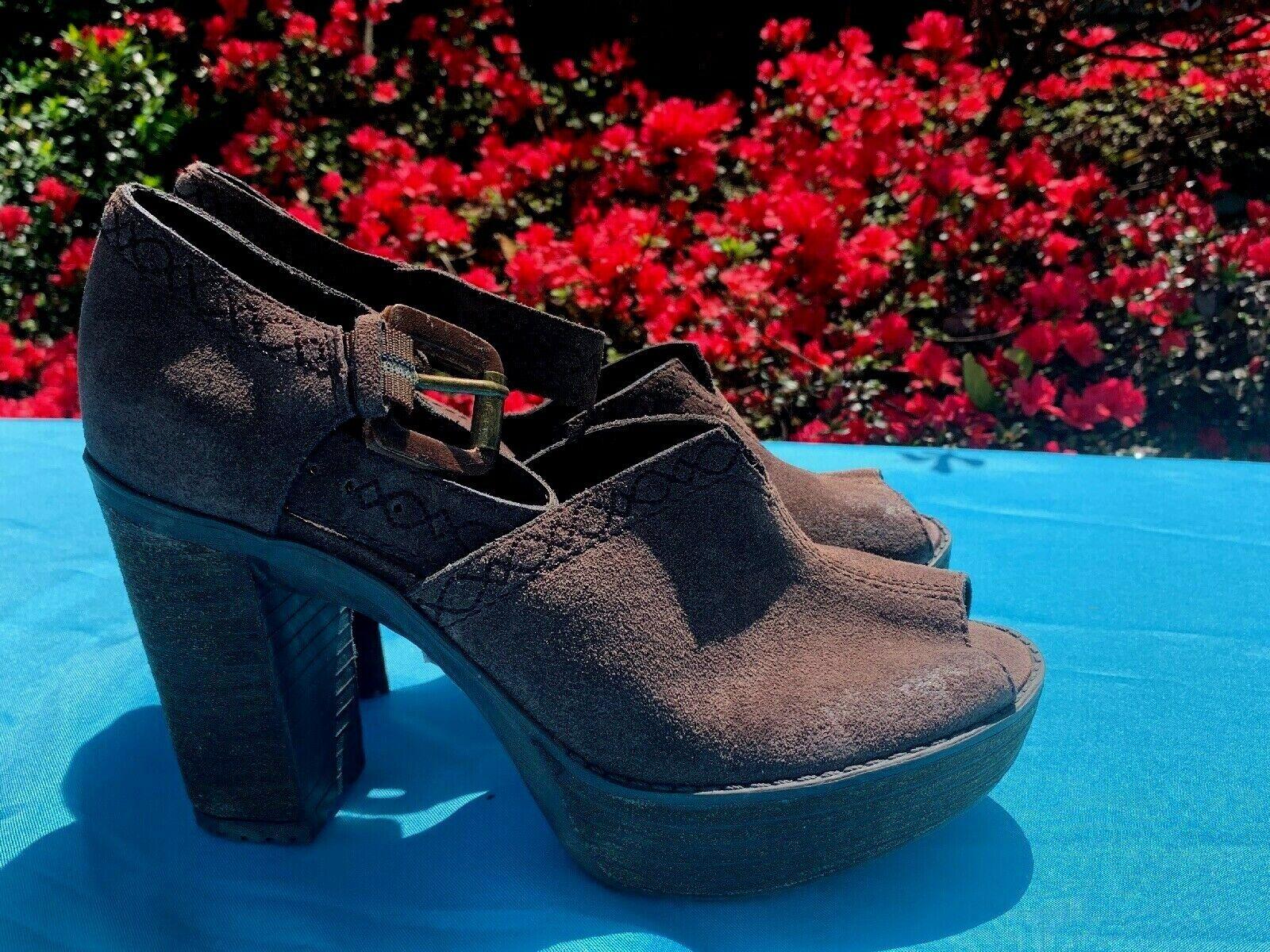 NICOLE Brand New High Heel Peep Toe Espadrilles Platforms Wedges Sz 6 ❤️ ts17j