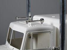 Pair Chrome Brass Air Horns for Tamiya RC 1/14 King Grand Hauler Globeliner Semi