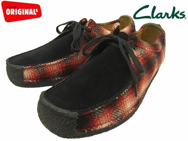 Clarks Originals Mens  Natalie Red   Black Combi Suede  UK 7,8,9,10,11 G