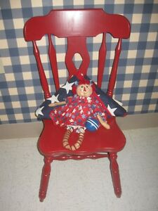 Marvelous Details About Red Chair Oversized Patriotic Early American Office Or Desk Accent Sturdy Andrewgaddart Wooden Chair Designs For Living Room Andrewgaddartcom