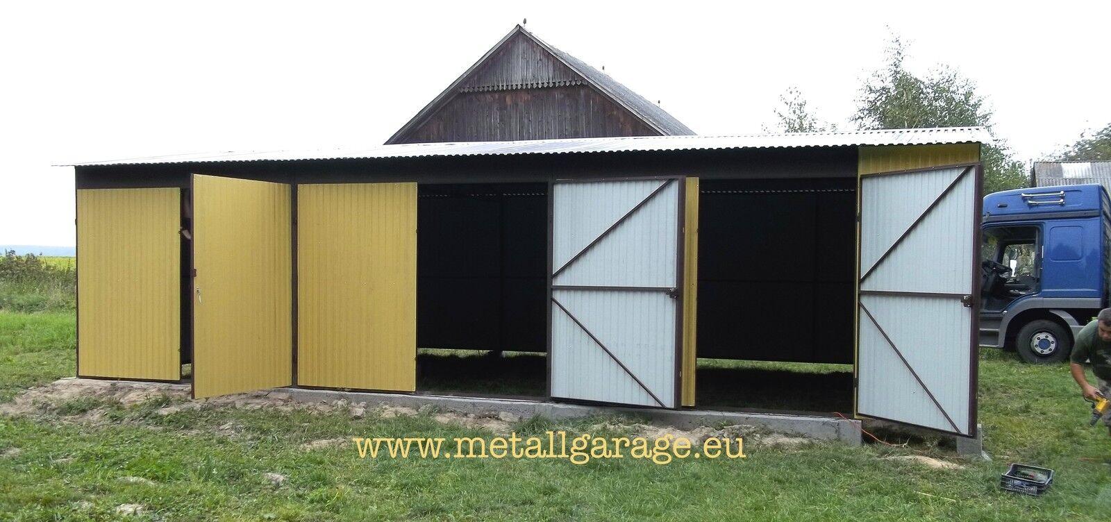 RAL 1002 10x6 Blechgarage Fertiggarage Metallgarage LAGERRAUM RAUM KFZ GARAGE