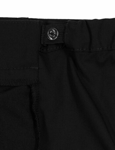 EX M/&S Plus Size Girls School Trousers Black School Uniform Generous Fit