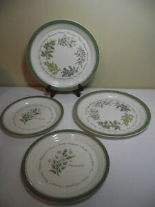 LOT-2-Corelle-THYMELESS-HERBS-Dinner-Plates-amp-2-Salad-plates