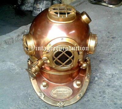 Copper Vintage Divers Diving Helmet 18 inch US Navy Mark V Deep Sea Antique Gift