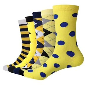 Mens-Happy-Socks-5-Pack-Yellow-Vibes-Happy-Funky-Bright