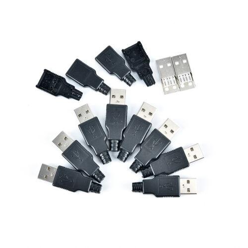 2//5//10X type a usb 4 pin male socket connector plug termination plastic shel EC