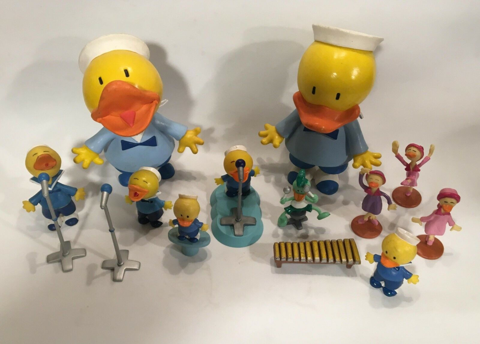Rare LITTLE DUCKS (Os Patinhos) 11 11 11 PVC FIGURES MAIA & BORGES FIPLA PORTUGAL 1999 a1e236