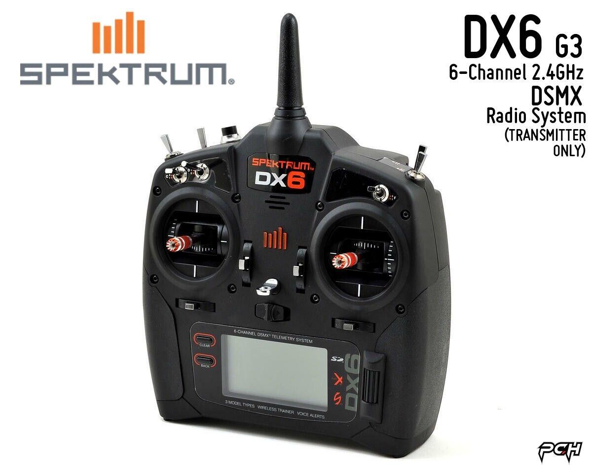 SPEKTRUM DX6 G3 2.4GHz DSMX 6-Channel Radio System (TRANSMITTER ONLY) SPMR6750