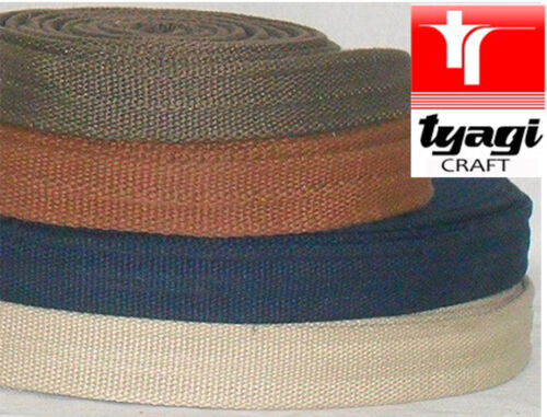 25mm Cotton Webbing Canvas Strap with reinforced rounded edges bag//Waist Belt