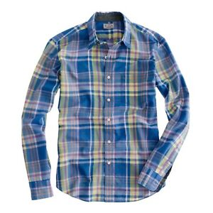 7487ad7c J.Crew Indian Cotton Shirt in Shepley Plaid Mens Size Large 100 ...