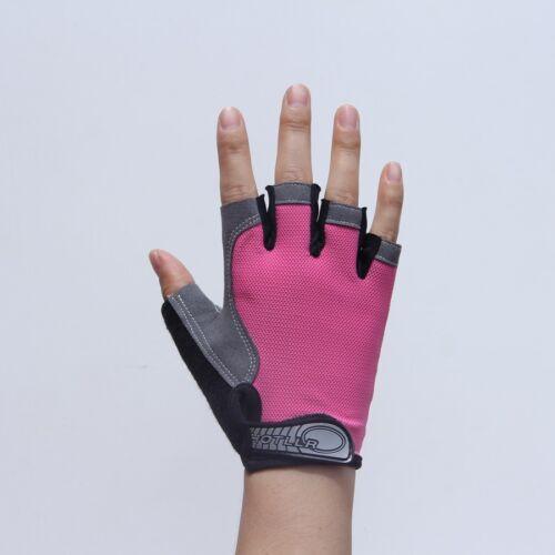 Sports GEL Padded Half-finger Gloves Mountain Bike Wheelchair Driving Fingerless
