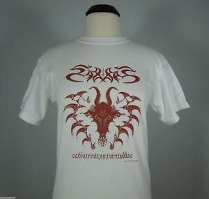 SABBAT-Sabbatrinity-White-Graphic-T-Shirt-size-L-R-I-P-Records-NEW