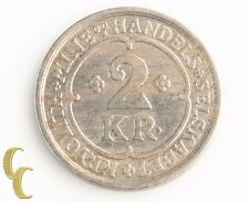 1922 Greenland 2 Kroner Token (Extra Fine+, XF+) Ivigtut Cryolite Mining KM-Tn48