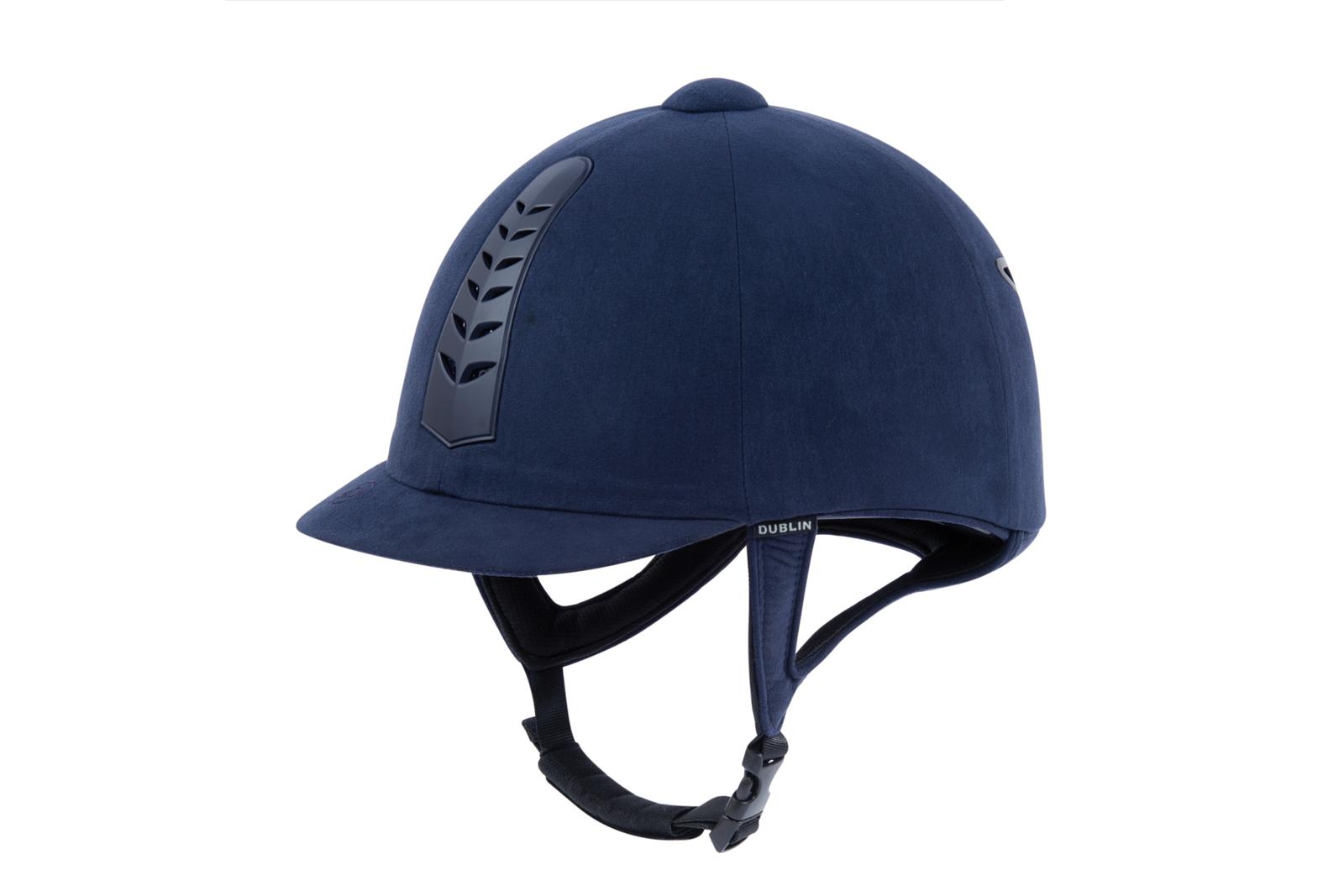 Dublin Plata Pro Equitación Sombrero-Azul Marino
