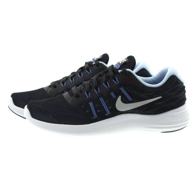 brand new c5113 e6d12 Nike Womens Lunarstelos Black Metallic Silver 844736 009 Running ...