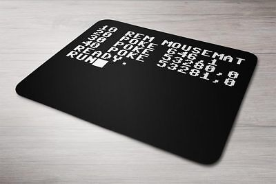 Retro Commodore 64 BASIC Mouse mat (CBM C64 Poke Mousemat Mouse Pad) | eBay