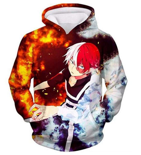 My Hero Academia Izuku Midoriya Todoroki Shoto 3D Kapuzenpullover Sweatshirt Cos