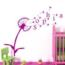 Dandelion Wall Decals Girls Name Vinyl Decal Stickers Nursery Bedroom Decor MN5