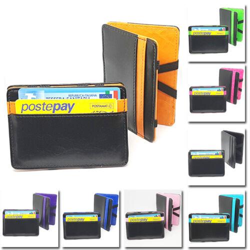Made MAGIC WALLET Magico portafoglio Credito Porta Carte colorati kw