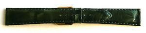 18mm-FLEURUS-DARK-GREEN-034-MARBLED-034-GENUINE-CALF-LEATHER-WATCH-BAND-STRAP