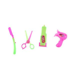 4pcs/set Plastic Dolls Beauty Salon Set Hair Styling Tools for ...