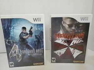 Resident-Evil-The-Umbrella-Chronicles-Nintendo-Wii-amp-RE-4-Wii-Edition-Bundle