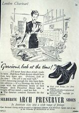 1940s Selberite 'Arch Preserver' Ladies Shoes Advert - Small Print Ad Vintage