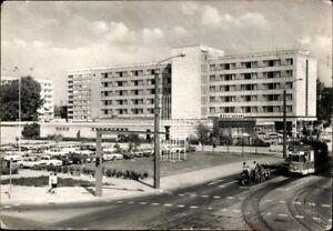 Postkarte-PK-AK-Ansichtskarte-gelaufen-Cottbus-Hotel-Lausitz-SW-Restaurant