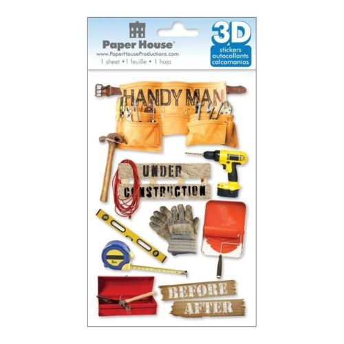 Paper House Choose From Menu Handy Man Craft 3d Stickers Handyman