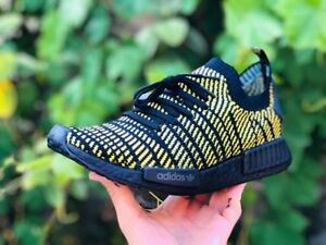 cfed4d7d1 🐝BLACKED OUT Adidas NMD R1 STLT PK Yellow Primeknit AQ0934