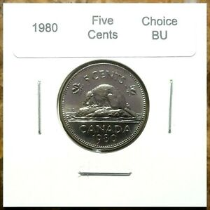 Canada-1980-Five-Cents-UNC-Choice-BU