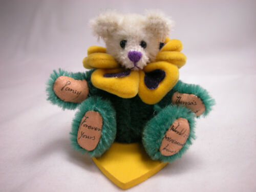 "World of Miniature Bears 3.5/"" German Mohair Bear #1072 Pansy"