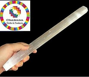Selenite-Crystal-Stick-10-034-12-034-Long-Large-Raw-Rough-Wand-Clearing-Energy
