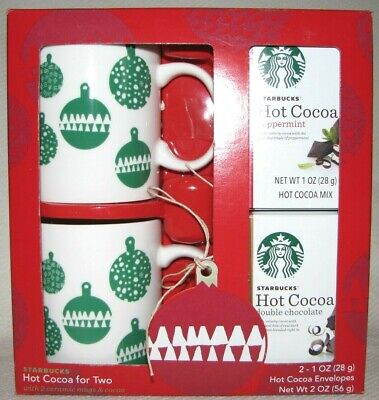 Starbucks Coffee Mug Set Of 2 Hot Cocoa For Two Holiday ...