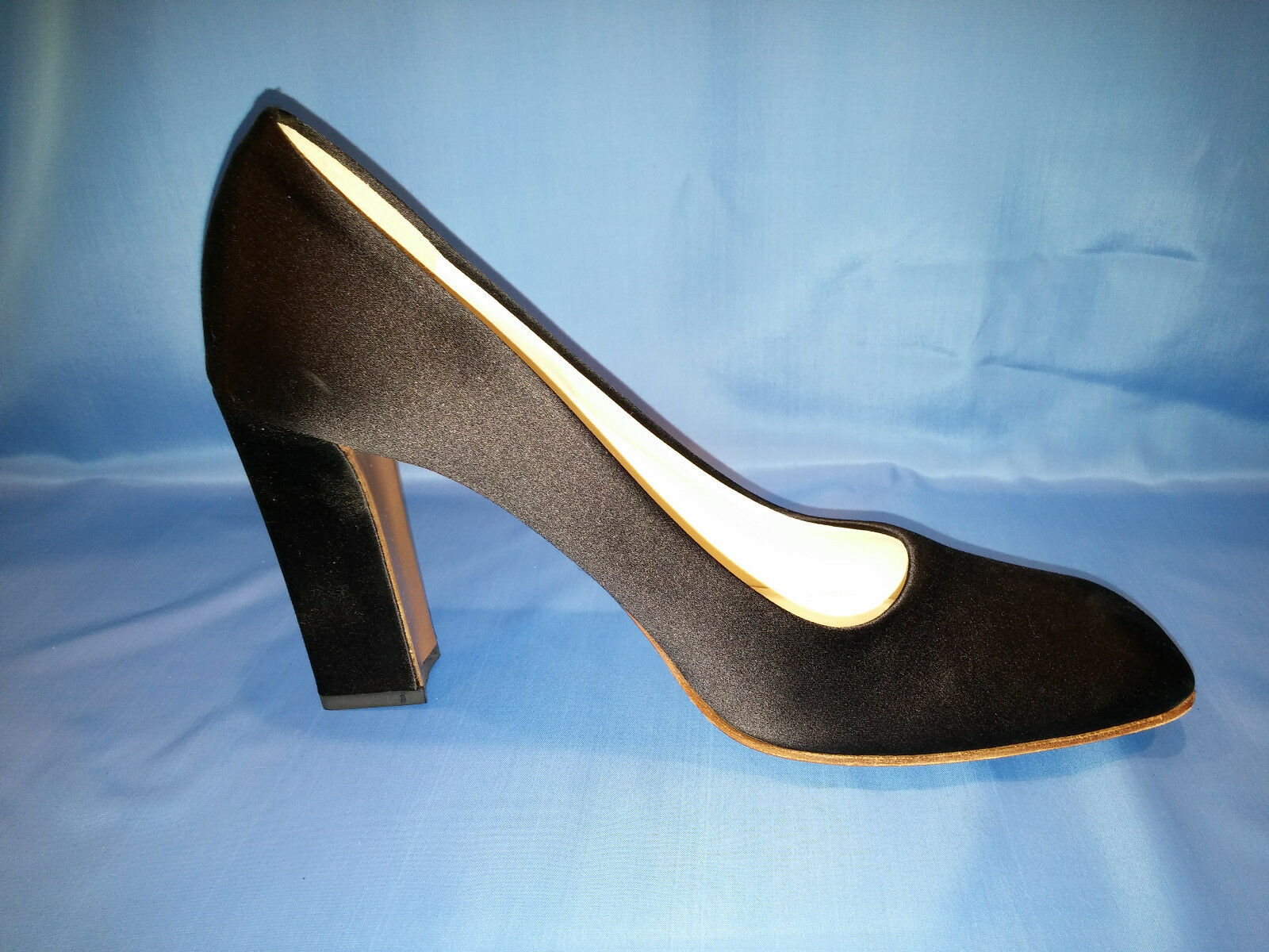 Prada Black Cloth Size 10 High Heels Heels Heels New In Box c2d340