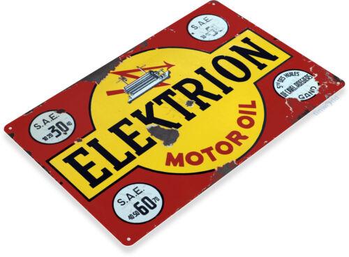 TIN SIGN Elektrion Oil Medal Décor Wall Art Gas Garage Shop Bar A357