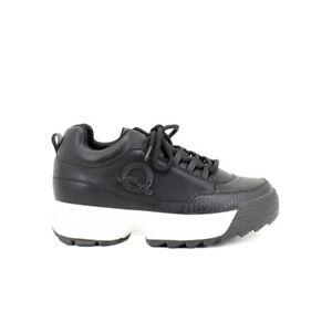 Queen Helena Sneakers donna scarpe sportive da Ginnastica Stringate Comode Neri