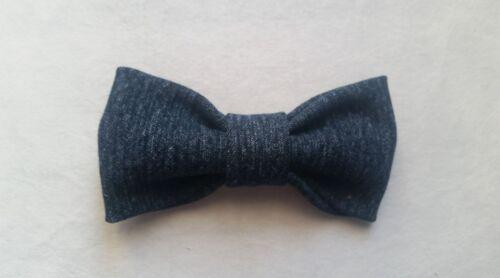 Denim Jean Bow tie Bowtie Ring bearer Bow tie Clip on Wedding Groomsmen Gift