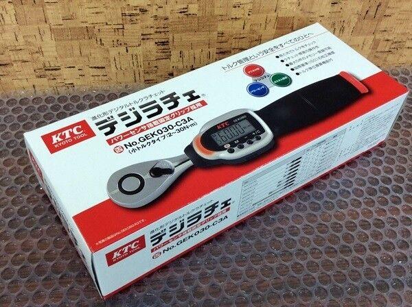 KTC GEK030-C3A Adjustable Digital Torque Wrench ratchet head type measuring