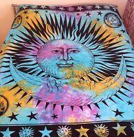 ❁ NEW IN! Tie Dye Sun Bohemian Hippie Boho Duvet Cover Set Bedding DOUBLE SIZE ❁