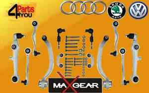 AUDI-A4-A6-Passat-Magnifico-control-completo-de-Suspension-Delantera-Brazos-Kit-Conjunto-de-Pista