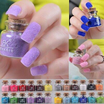 Polish Nail Art Decoration Tip Design Velvet Flocking Dust Powder Set 24 Colors