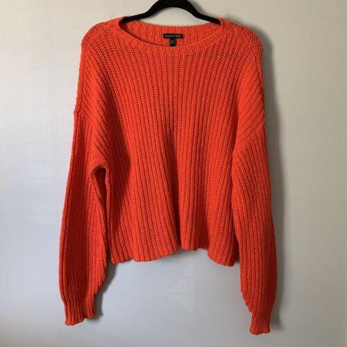 Women's Eileen Fisher Orange Chunky Knit Cropped S