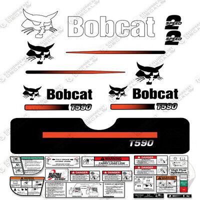 Bobcat S750 Compact Track Loader Decal Kit Skid Steer  S-750 Straight Stripes