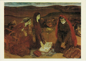 1979-Russian-postcard-SAD-WOMEN-WITH-HOPE-AND-BELIEF-Armenian-artist-G-Agasyan